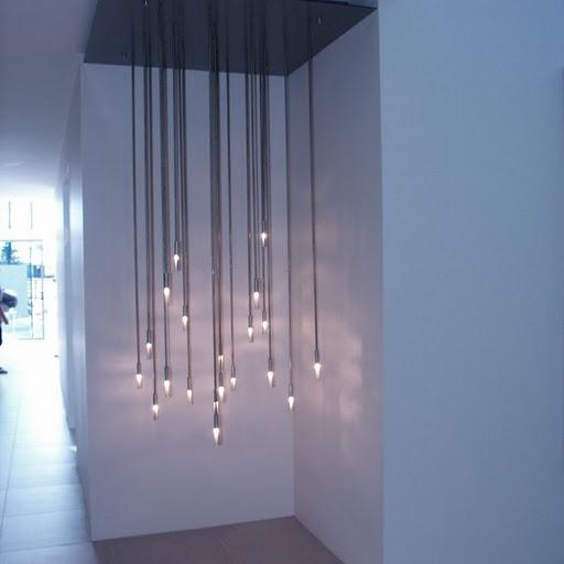 Cluster pendant lighting foyer ideas for Yellow goat chandelier