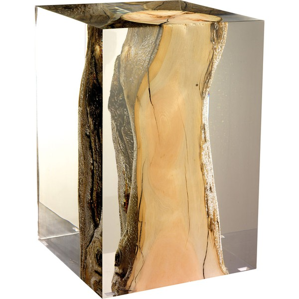 Made Goods Bea Accent table in Crackled Gold is an exotic piece that ...